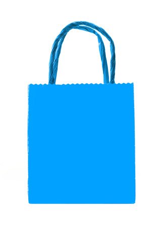 blue shopping bag isolated Stock Photo