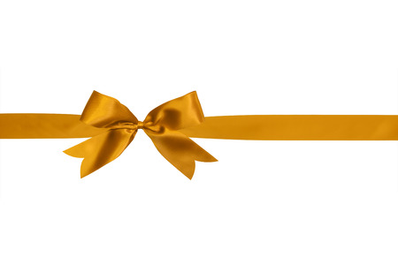 gold ribbon: gold ribbon and bow isolated