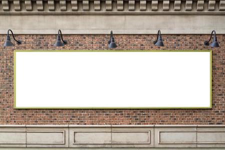 Cartelera en la pared de ladrillo Foto de archivo - 23833198