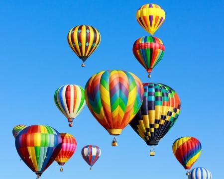 hot: colorful hot air balloons