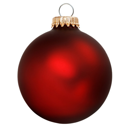 red christmas ornament isolated Stock Photo