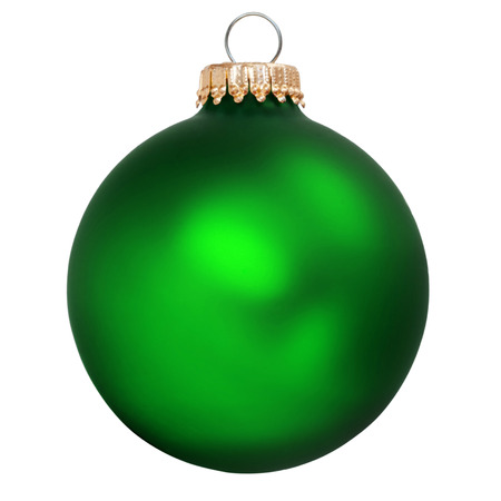 green christmas ornament isolated Stock Photo