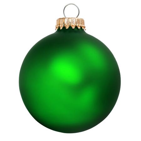 christmas  ornament: green christmas ornament isolated Stock Photo