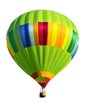 hot air balloon isolated Stock Photo