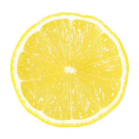 slice of lemon isolated on white Фото со стока