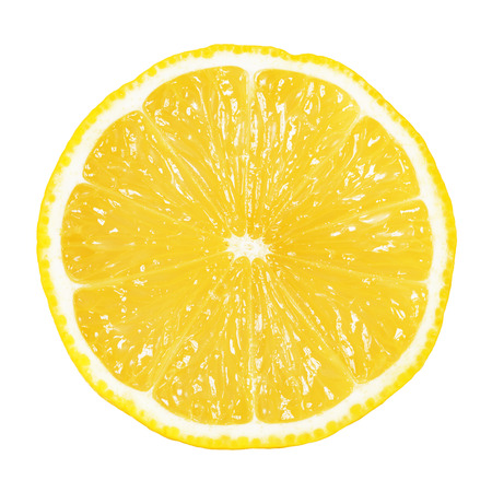 slice of lemon isolated on white Archivio Fotografico