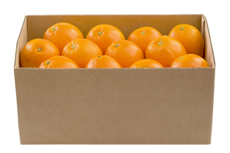 oranges: box full of oranges