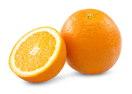 orange with clipping path photo