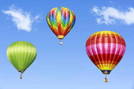 Montgolfières colorées Banque d'images - 26085891