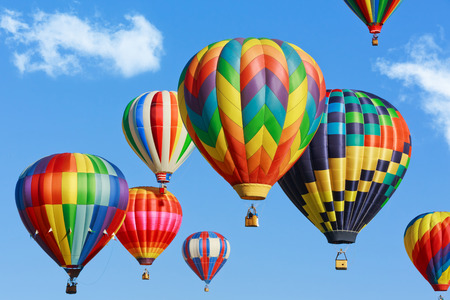 hot air balloons: colorful hot air balloons