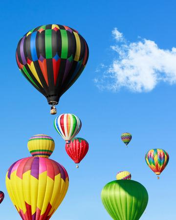 luftschiff: Bunte Heißluftballons Lizenzfreie Bilder