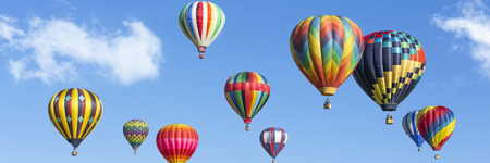 hot air: colorful hot air balloons