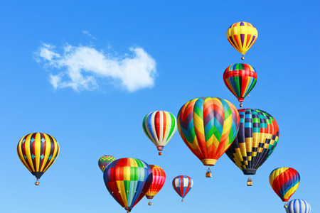 colorful hot air balloons photo
