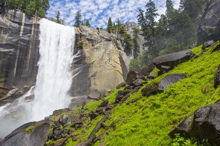 granite park: Vernal Fall, Yosemite National Park Stock Photo