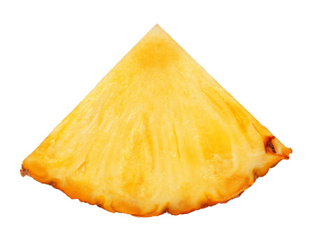 pineapple slice isolated photo