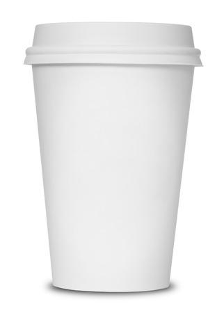 drinking coffee: Taza de caf� aislado