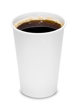 coffee to go: Cup of coffee with clipping path Stock Photo