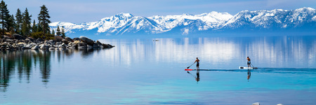 sierra nevada mountains: Paddle boarding