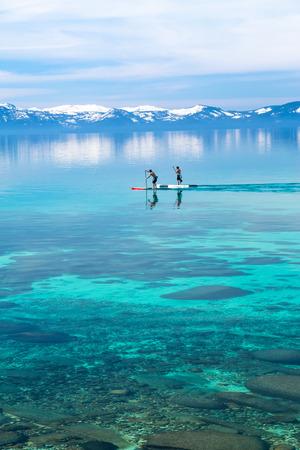 Paddle boarding photo