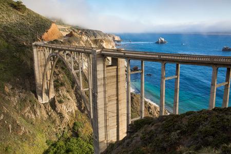 Bixby Bridge, California coast photo