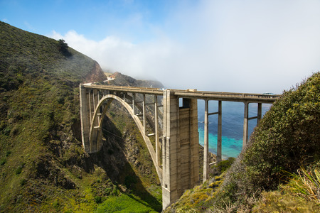 california coast: Puente de Bixby, costa de California