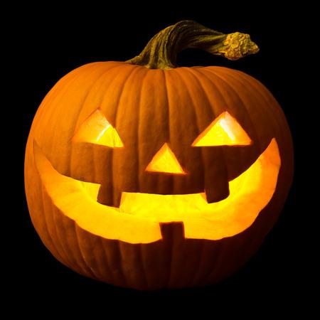 Halloween Kürbis Gesicht Lizenzfreie Bilder