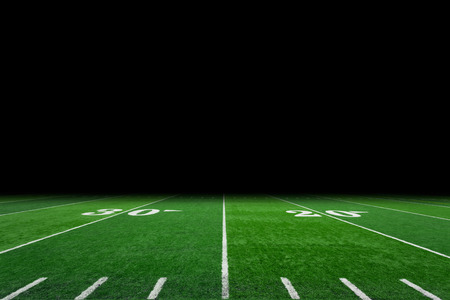 Football field with copy space photo