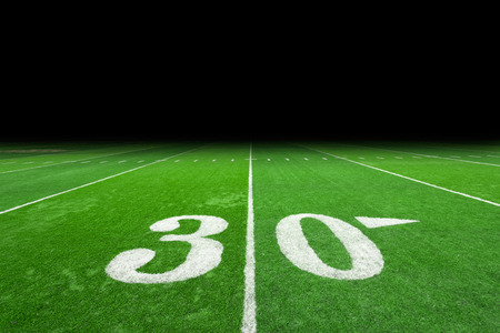superbowl: Football field with copy space Stock Photo
