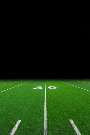 footballs: Football field with copy space Stock Photo