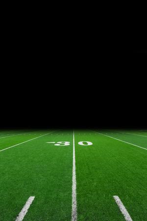 Voetbal veld met een kopie ruimte