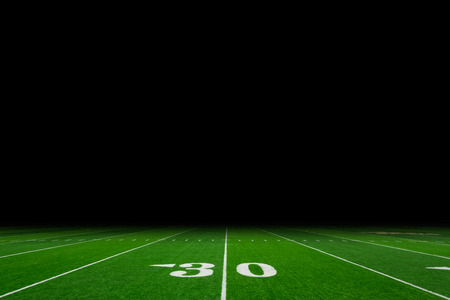 nfl football: Football field with copy space Stock Photo