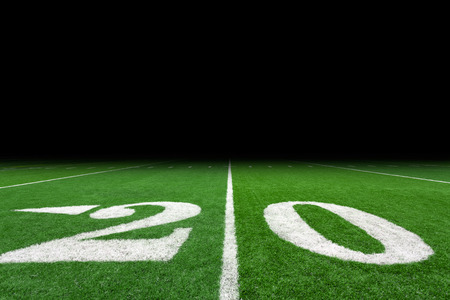copy space: Football field with copy space Stock Photo