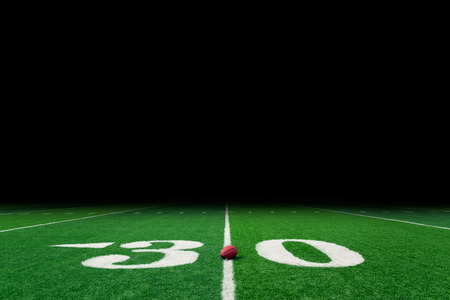 american football: Football field with copy space Stock Photo
