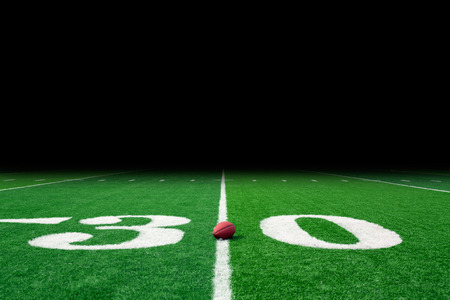 american football background: Football field with copy space Stock Photo