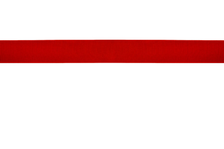 Red ribbon isolated photo