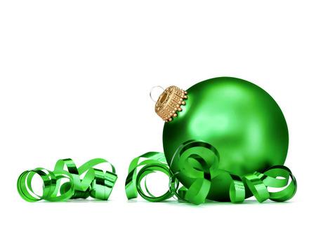 Christmas ball over white background