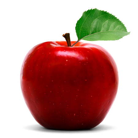 ripe: Red apple