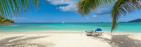 paradise: Tropical beach Stock Photo