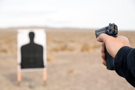 military training: Target shooting