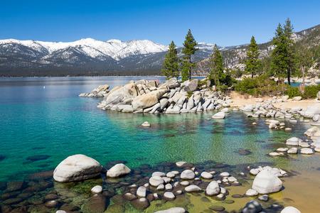 sand harbor: Lake Tahoe Stock Photo