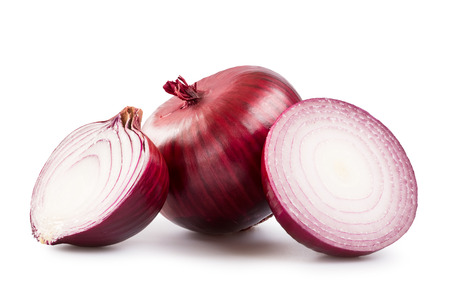 to cut: Red onion Stock Photo