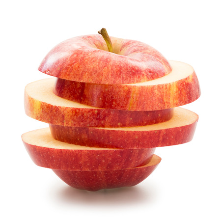 sliced fruit: Sliced apple