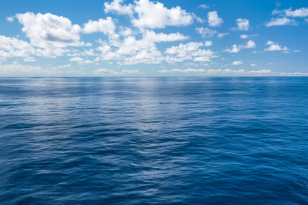 blue sea: Ocean background Stock Photo