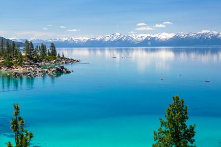 lake tahoe: Kayaking Lake Tahoe Stock Photo