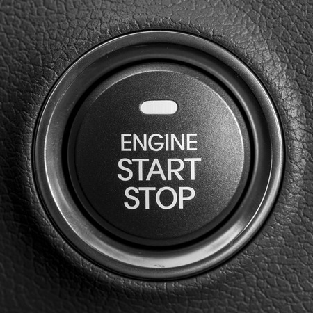at button: Engine start button Stock Photo