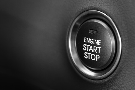 ignition: Engine start button Stock Photo