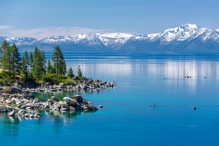 sierra nevada mountains: Turquoise waters of Lake Tahoe