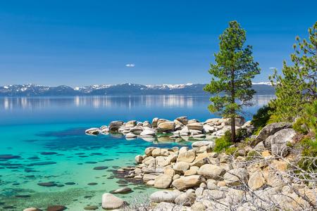 tahoe: Turquoise waters of Lake Tahoe