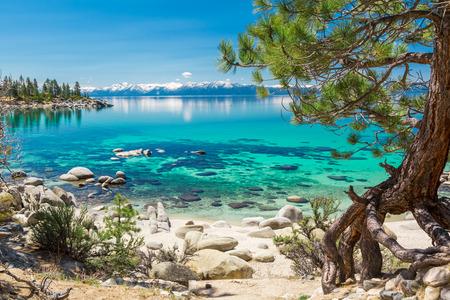 Türkisfarbene Wasser des Lake Tahoe Standard-Bild - 41101350