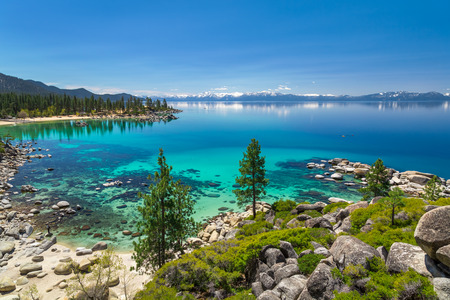 tahoe: Turquoise waters of Lake Tahoe